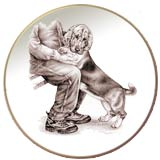 Laurelwood Plate Basset Hound Picture