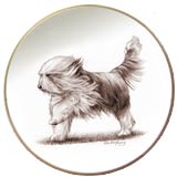 Laurelwood Plate Bearded Collie