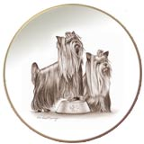 Laurelwood Plate Yorkshire Terrier Dog